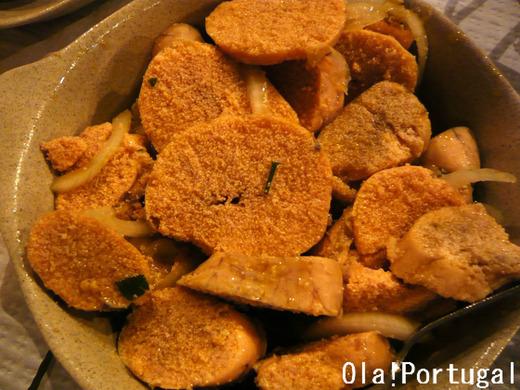 ポルトガル料理:魚の卵を茹でたもの