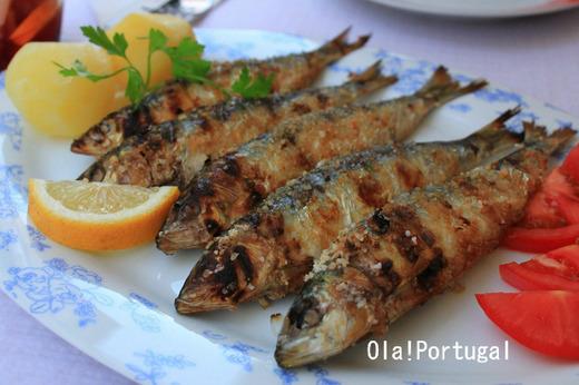 ポルトガルの魚料理:サルディーニャス・アサーダス