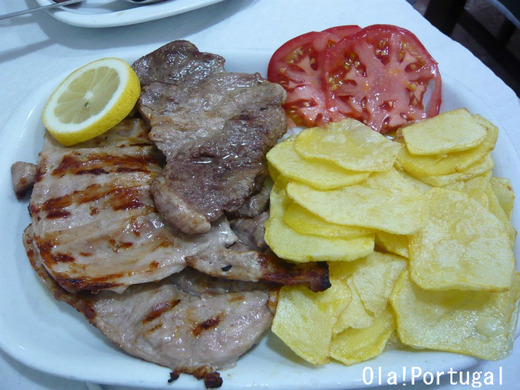 ポルトガル料理:Febras de Porco (フェブラシュ・デ・ポルコ)