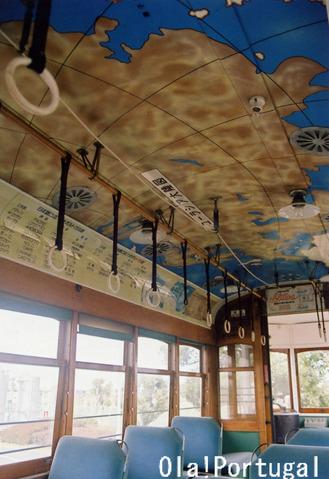 リスボン市電車内(動く博物館)