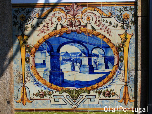世界の車窓から:ポルトガル鉄道・カミーニャ駅のアズレージョ