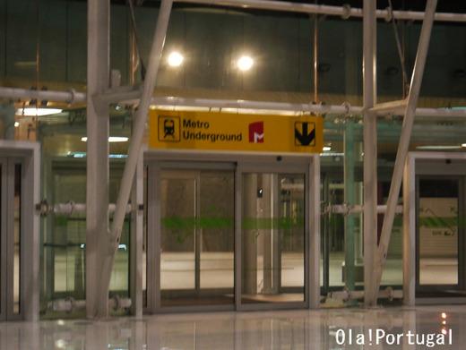 メトロ・リスボン空港駅:Aeroporto (地下鉄赤色線)