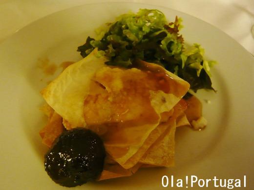 ポルトガル料理:Mil-Folhas de requeijao (リケイジャオンの前菜)