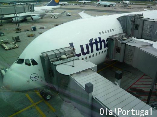 エアバスA380に搭乗