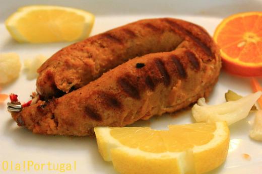 ポルトガル料理前菜:Alheira アリェイラ(鳥の腸詰)