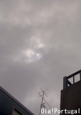 ポルトガルの日食(1999.8.11、カルダス・ダ・ライーニャ)