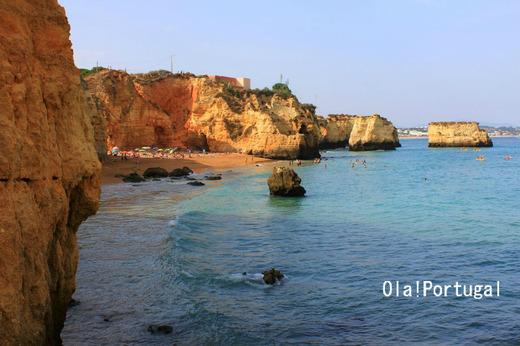 ポルトガルの美しいビーチ:ラゴス、プライア・ドナ・アナ