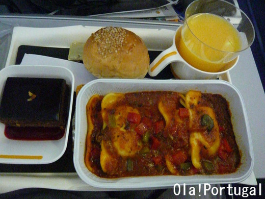 ルフトハンザの機内食(夕食)