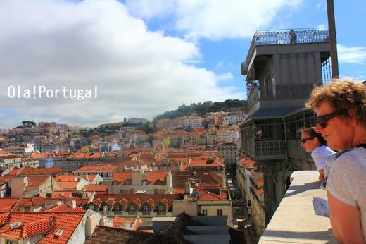 ポルトガル・リスボン旅行記:サンタ・ジュスタのエレベータ
