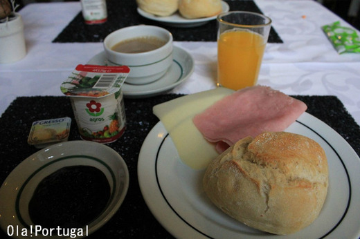 ポルトガルのホテルの朝食