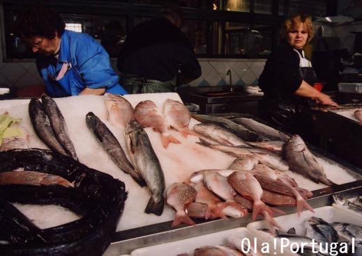 ポルトガルの魚市場(リスボン)