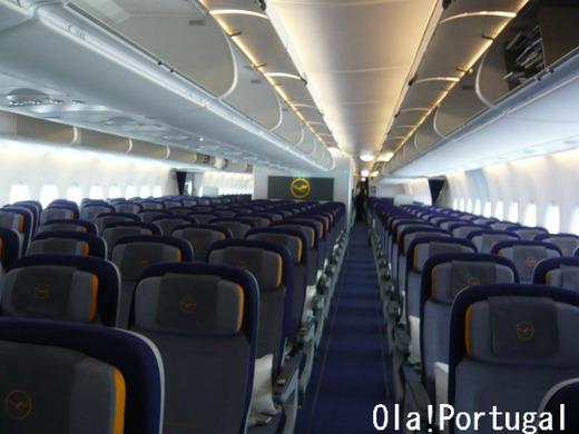 A380の機内(1階:エコノミー)