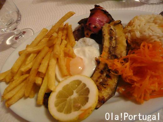 ポルトガル料理:Bitoque de novilho ビトッケ