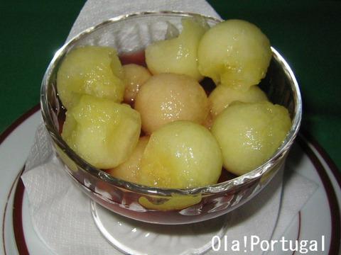 Meloa com vinho do porto (メロンのポートワインがけ)
