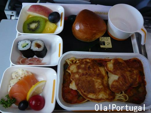 ルフトハンザの機内食(昼食)