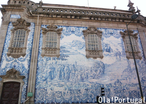 ポルト:カルモ教会のアズレージョ