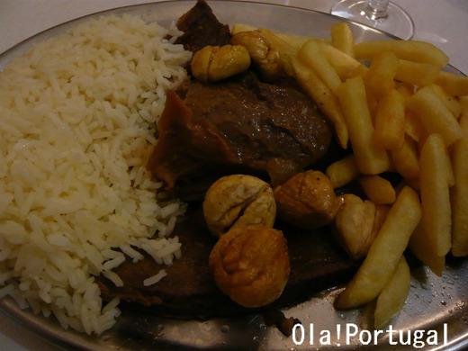 ポルトガル料理:Veado com castanhas (鹿)