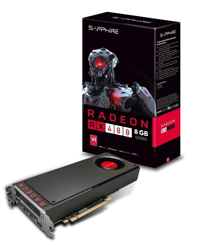 Sapphire Radeon RX 480 8GB GDDR5 HDMI  TRIPLE DP