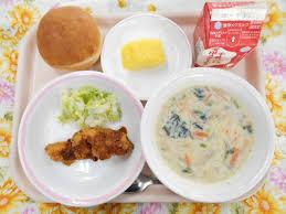 給食の豆乳スープ