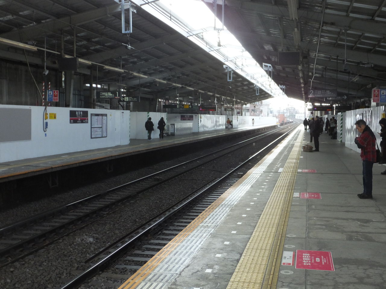 祐天寺駅 工事
