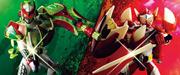 7月 AC PB08 仮面ライダー斬月&バロン 鎧武外伝セット