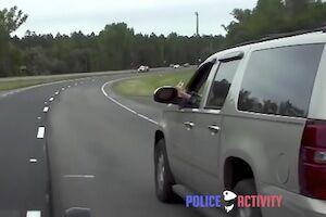 【動画】一時停止を無視した車とパトカーの9分間にも及ぶカーチェイスが熱い。