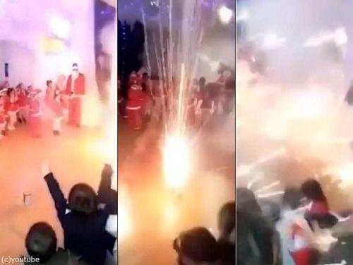 「お遊戯会でうっかり屋外用の花火を使ったら…ほとんど戦場になった」恐怖を感じる光景