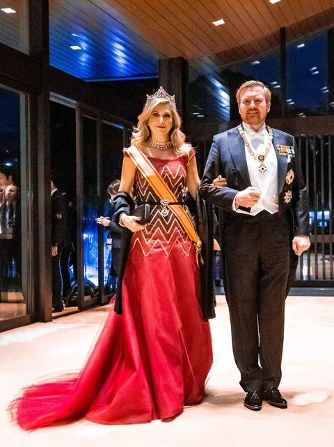 オランダのウィレム・アレクサンダー国王とマキシマ王妃。