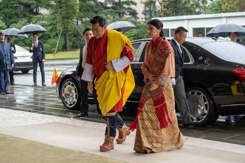 ブータンのワンチュク国王夫妻