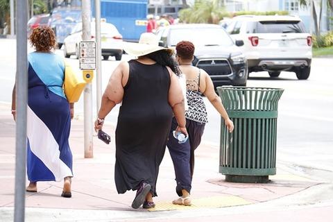肥満の人々の写真