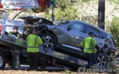ウッズ氏の事故車は現代自「ジェネシス」SUV 現地で注目