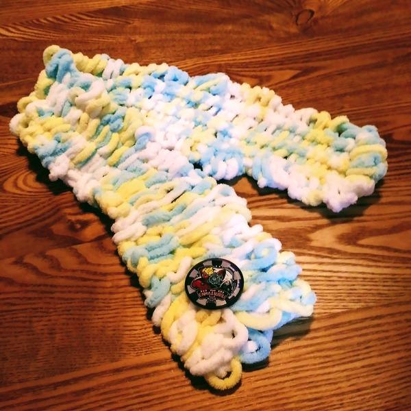 指編みマフラー