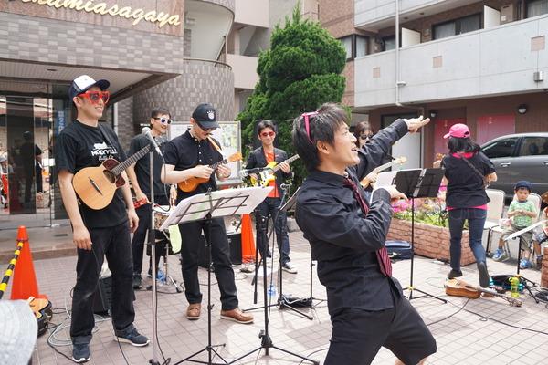 Rockin' ukulele Band stage