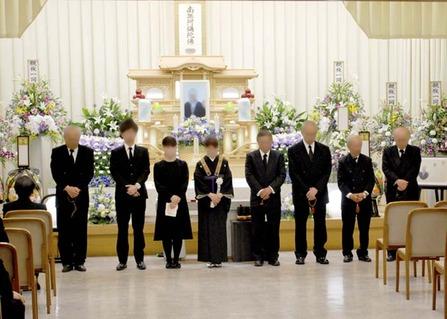 堺斎場で親族の挨拶