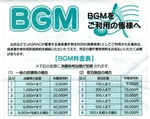 BGM使用料