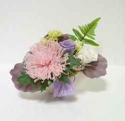 プリザーブドフラワーの仏花サンプル1