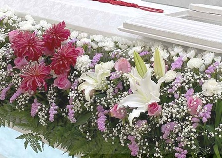 お花いっぱいの葬儀