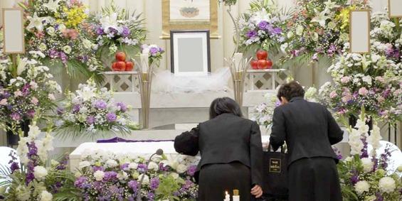 葬儀式場の様子