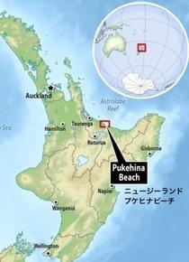 pukehinaビーチ