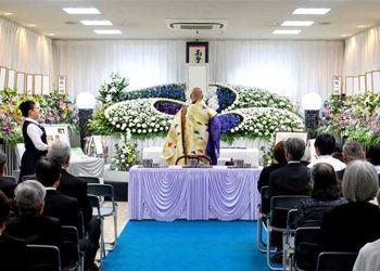 住之江区の集会場で葬儀