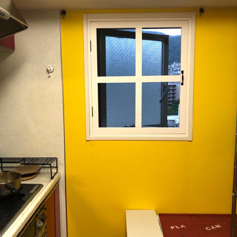 【DIY】マンションのプリーツ網戸を取り外して、キッチン網戸を作ってみた。