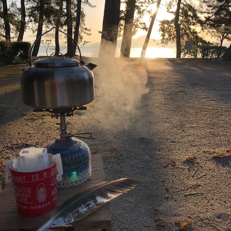 女子キャンプ:琵琶湖が美しい。マイアミ浜オートキャンプ場
