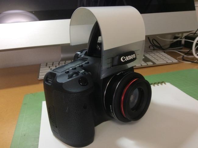 ペットもポートレイトも集合写真もきれいに撮りたい。EOS 7D カメラ内蔵ストロボ用ディフューザー自作