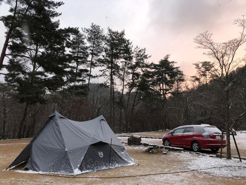 1月の女子ソロキャンプ:自然の森ファミリーオートキャンプ場