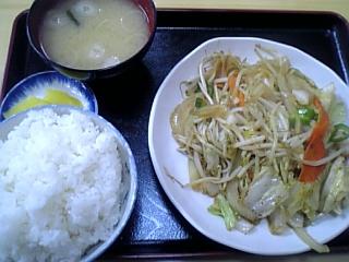 にこにこ食堂(野菜炒め定食)