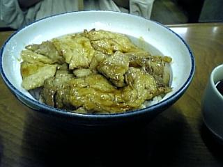 ふじ食堂(肉丼)