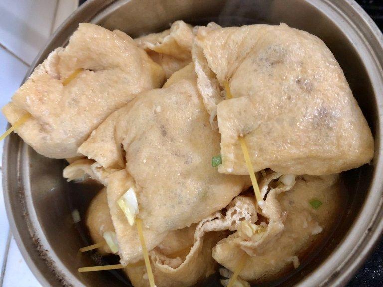 おうちにあるもので簡単に作れちゃう!?低カロリーな鶏ひき肉の油揚げ包み♡2