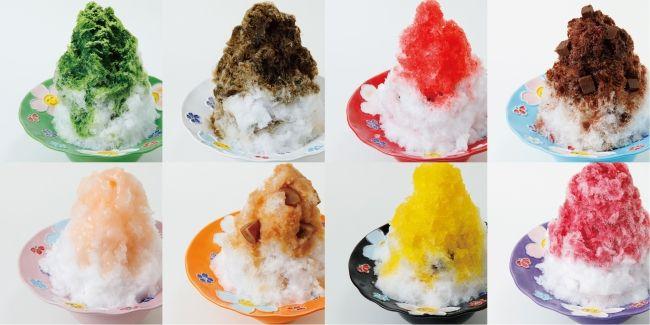 8つのオリジナルレシピの菓子氷
