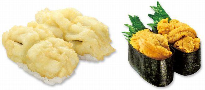 「旬の極みシリーズ はも天寿司・新物うに」