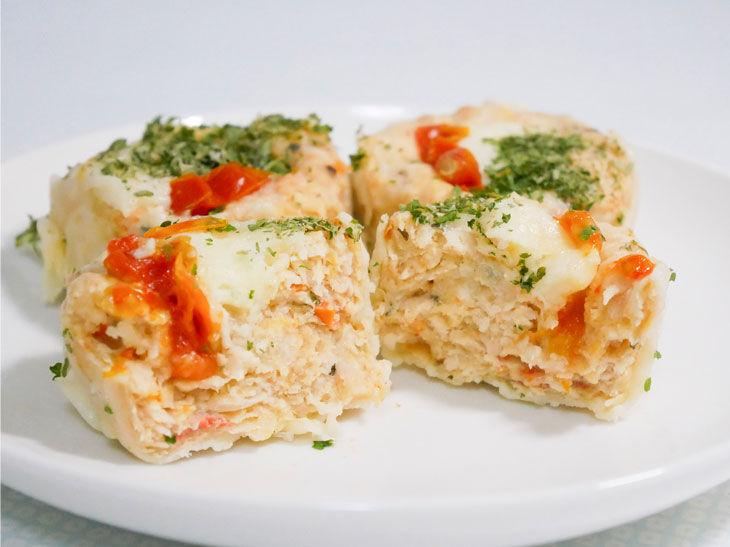 「トマトとモッツァレラチーズの鶏焼売」499円